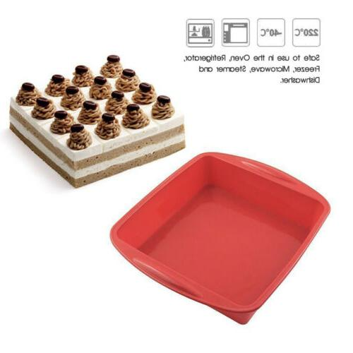 Silicone Baking Cake Pan Bread Molds Tray Meatloaf Pizza