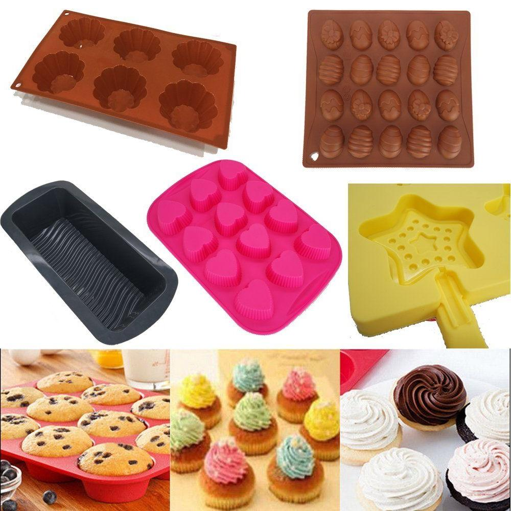 Silicone Cup Cake Cookie Mould Pan Mold