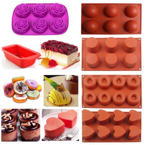 Silicone Cupcake Mold Muffin Chocolate Cake Candy Cookie Bak