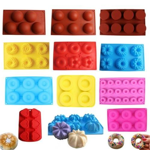 Silicone Donut Cupcake Mold Muffin Chocolate Cake Candy Cook
