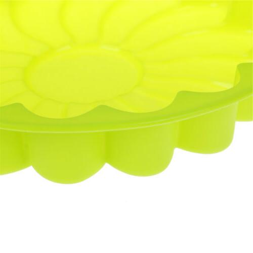 Silicone Large Flower Cake Baking Pan Mould Soap Candy Mold SKH