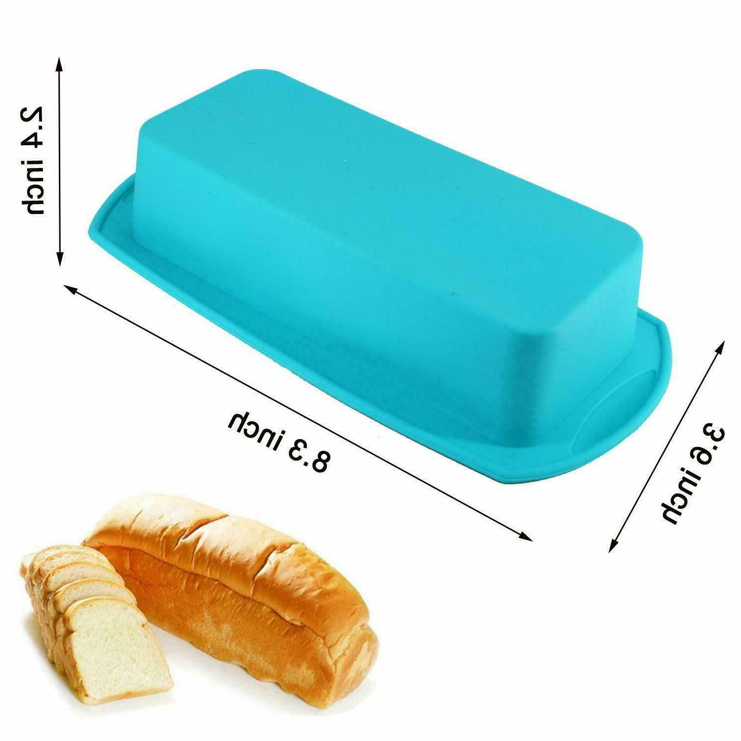 Silicone Molds 1/2 Baking Loaf Bread Pan Microwave Non
