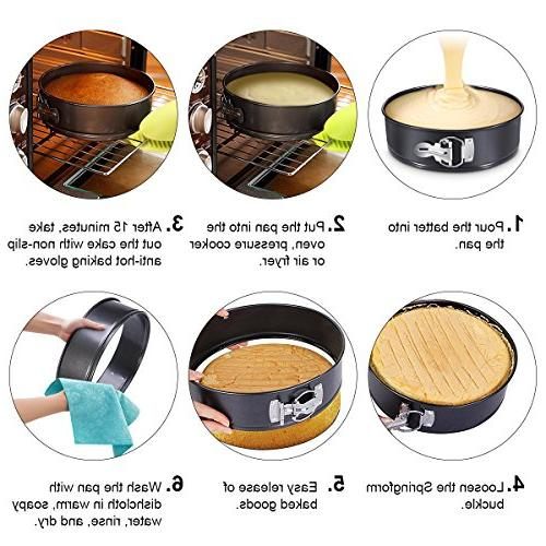 Springform Pan, 9-Inch Nonstick pan/Spring Pan/Cheesecake Pan Instant Pot Removable Bottom & Safe