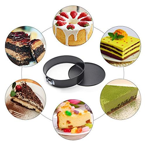Springform Blusmart Nonstick Leak-Proof Cake pan/Spring Pan Instant Bottom & Quick-Release Latch Bakeware, Cleanup, Safe
