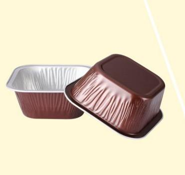 square disposable aluminum foil cups