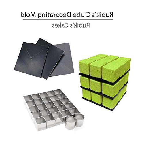 AK KITCHENWARE Steel Magic Cube Mold Mould Small Mousse Rings Supplies RC-02