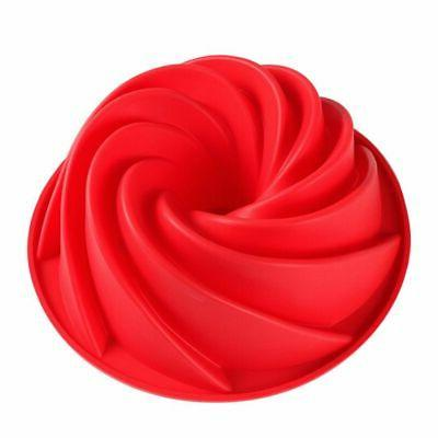 Swirl Bundt Ring Kougolf Jelly Silicone Mould Pans