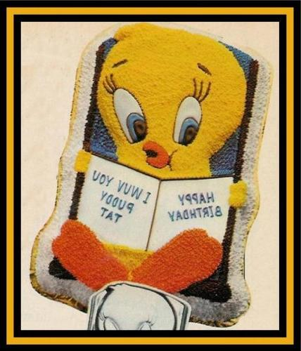 tweety bird book cake pan