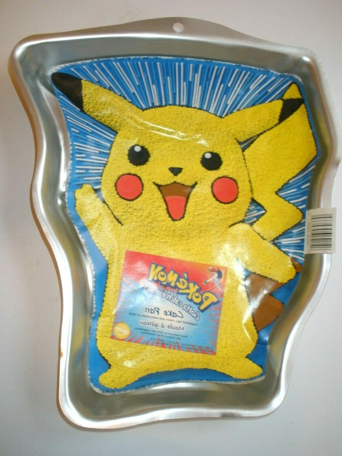 vtg cake pan 1998 pokemon pikachu unused