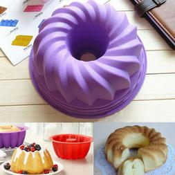 1* Spiral shape Cake Pan Bread Chocolate Kitchen Baking Sili