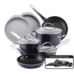 Farberware Luminescence Aluminum Nonstick Cookware Set, 16-P