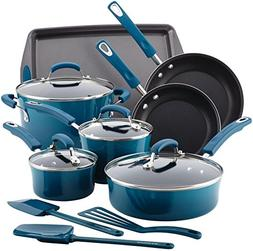 Rachael Ray® Marine Blue 14-pc. Hard Enamel Nonstick Coo