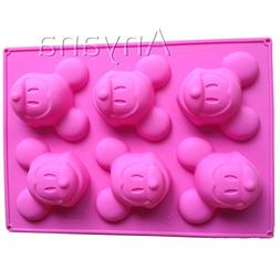 Anyana Mickey Mouse Silicone Cake Muffin Molds Cupcake Pan S