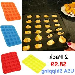 Mini 24 Cavity Muffin Cupcake Silicone Mold Cookie Mould Pan