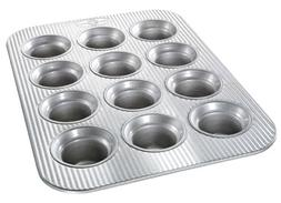 USA Pans 12 Cup Mini-Crown Muffin Pan, Aluminized Steel with