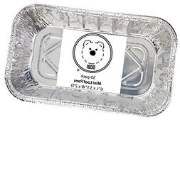 DOBI  Mini Loaf Baking Pans - Disposable Aluminum Foil 1lb S