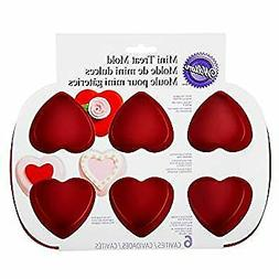 Mini Silicone Heart Mold, 6-Cavity Mold for Heart Shaped Coo