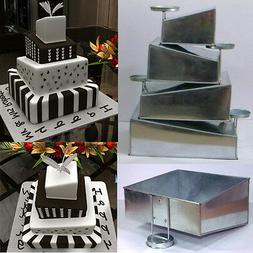 Mini Topsy Turvy 4 Tier Square Cake Pans Tins New Design By