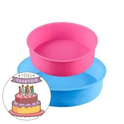 Mousse Cake Moulds Round Silicone 2pcs/Set Home Kitchen Past