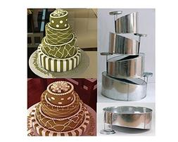 Euro Tins multi layer cake pans Topsy Turvy Round 4 tier wed
