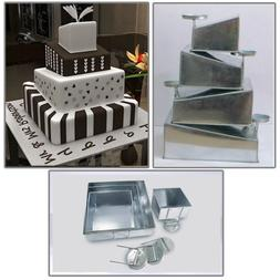 Euro Tins Multi Layer Cake Pans Mini Topsy Turvy Square 4 Ti