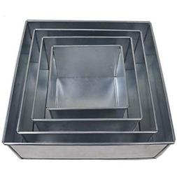 "Euro Tins Multi Layer Cake Pans Wedding Square 4 Tier 5"" Dee"