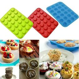 NEW 24 Cup Mini Muffin Pan Cupcake Cup Cake Tray Bake Baking