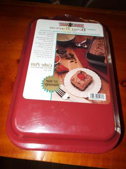 Nordic Ware 9x13 Covered Aluminum Cake Pan RED GREEN BLUE CH