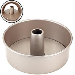 CHEFMADE 8-Inch Angel Food Pan with Removable Loose Bottom,