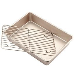 Chef Made Roasting Pan with Rack, 13-Inch Non-Stick Rectangu