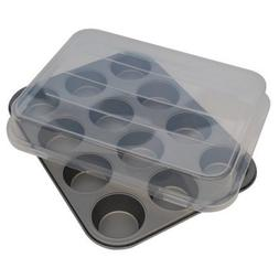 Mainstays 12-Cup Non-Stick Cupcake Pan with Lid