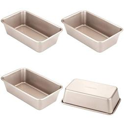 CHEFMADE 4Pcs Non-stick 6 Inch Mini Rectangular Loaf Pan, He