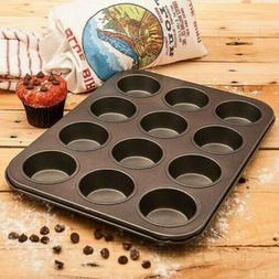Non Stick Muffin Pan Chocolate Cake Cookie Cupcake Baking Mo