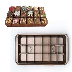 MZCH Non-stick Rectangle Brownie Pan, 18-Cavity, 12 by 8 inc