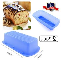 6 Pack Non Stick Silicone Bread Loaf Pan, Candy Cake Baking