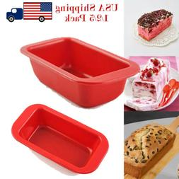Non-Stick Silicone Mold Cake Muffin Loaf Baking Pan Soap Bre
