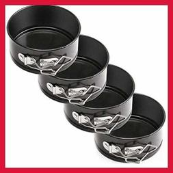 """Non Stick Springform Cake Pan Set 4"""" Leakproof Cheese FREE S"""