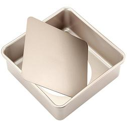 CHEFMADE 8.5-Inch Square Pan with Removable Loose Bottom, No