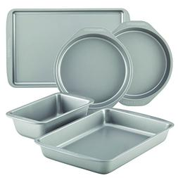 Farberware Nonstick Bakeware 10-Piece Baking pan Set, Gray -