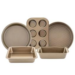 5 Piece Nonstick Bakeware Set Muffin Loaf Pizza Baking Pan S