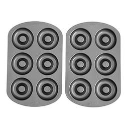 Nonstick Donut Pans 2 Pack 6 Individual Slots per Tray