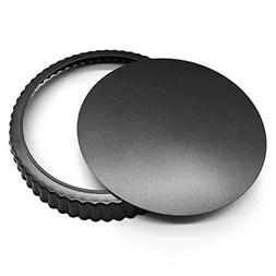 HOMOW Nonstick Heavy Duty Tart Pan With Removable Bottom, Re