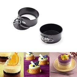 MZCH 4 inches Nonstick Springform Cake Pan Round Cheesecake