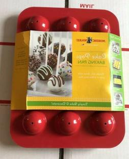 NORDICWARE Cake Pop Baking Pan Red New Ships Free
