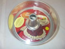 NOS Vtg Hillware Aluminum Spring Form Angel Food Cake Pan In