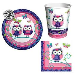 Creative Converting Owl Pal Tableware Package Including Cups