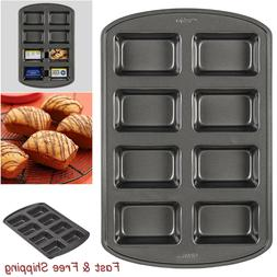 Perfect Results Non-Stick Mini Loaf Pan,8-Cavity For Baking