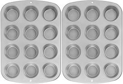 New Wilton Recipe Right Nonstick 12-Cup Regular Muffin Pan S