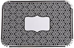 Simply Baked Large Rectangular Foil Pan - Black Starbust