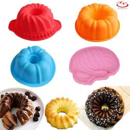 Ring Shaped Silicone Cake Mold Pan Muffin Bread Pizza Pastry
